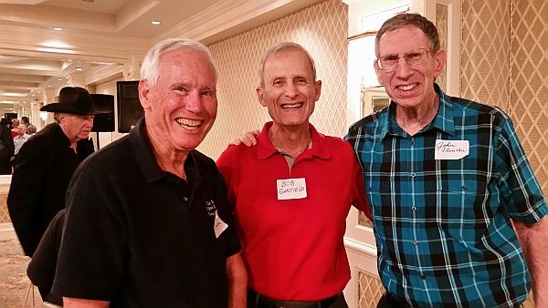 Pictured above: Grecians Dennis Johnson, Bob Garfield and John Fleischer at their 60-year Reunion on October 17 (Photo courtesy John Fleischer and Dr. Robert Garfield)