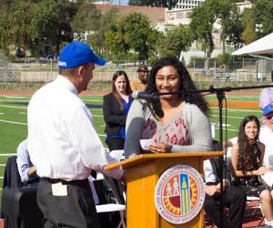LAUSD President Steve Zimmer & Uni ASB President Rebecca Herrera