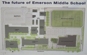 Layout of a renovated Emerson Middle School.