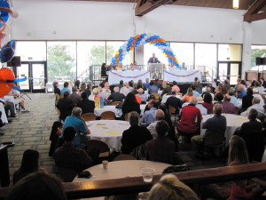 A full house for Coach K's 90th at Pepperdine's Rockwell Dining Center.