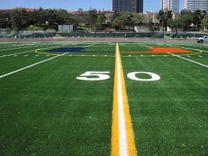"""The """"U"""" logo at the 50-yard line (Photo courtesy UHEF)"""